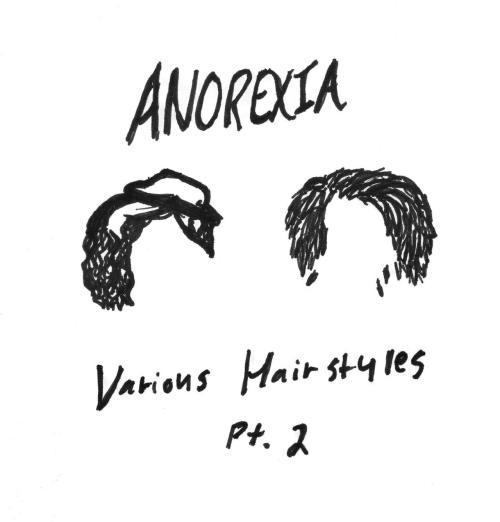 ANOREXIA EP Various Hairstyles; PART 2 RELEASED TODAY!!! 7/13/12 Tracklist Wake up House Of Cards http://anorexia.bandcamp.com/album/various-hairstyles-pt-2  Get it FREE!!