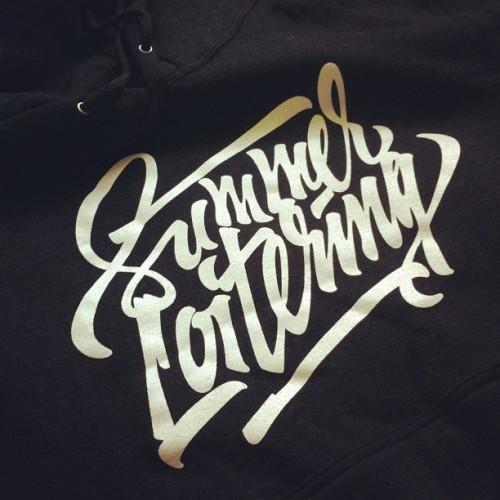 "fromtheska:  Did some lettering for a hoodie by ""Oak and Oar"" (Taken with Instagram)"