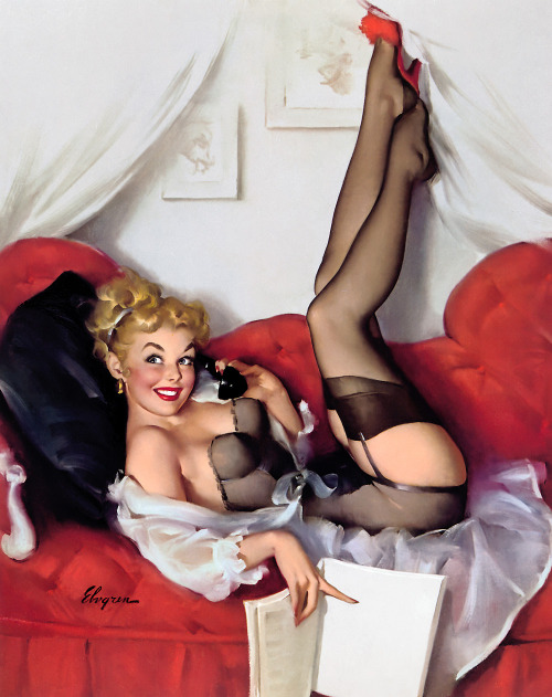 "Gil Elvgren, ""a number to remember"""