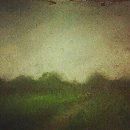 Field. pastels on wood (Taken with Instagram)