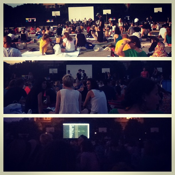 From rock bands to #movie. #brooklyn #greenpoint #mccarrenpark #summerscreen #outdoors #summer (Taken with Instagram at McCarren Park)