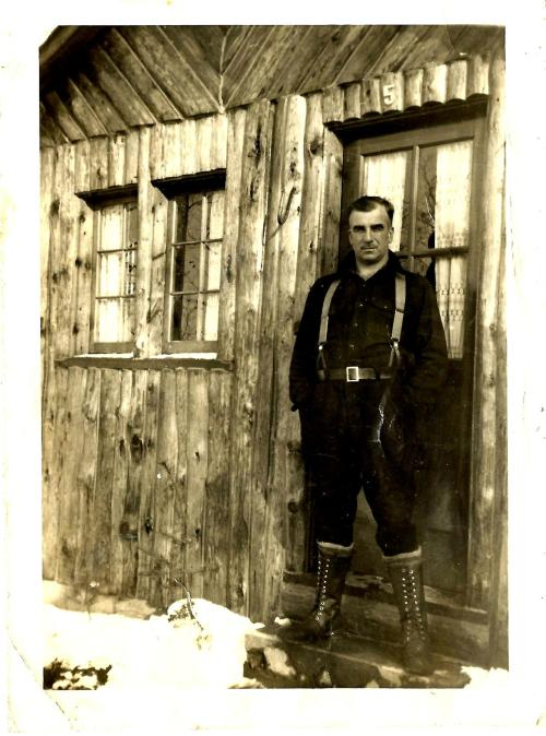 This is my great-grandfather Walter Pakulski at a hunting camp in Michigan in the 1940s. While you were busy looking for Easter eggs in GTA-SanAndreas, he went out and got the buck. More Pakulski here.