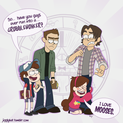 jigglykat:  The Winchesters make a stop in Gravity Falls, Oregon and bump into another mystery-solving sibling duo.