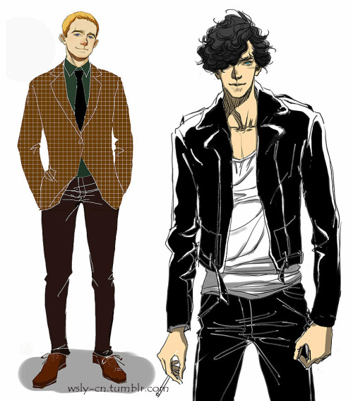 Rock! Sherlock & Gentleman! John. Birthday gifts to my friends. 摇滚福与绅士花,给BF与潘的生日礼物。