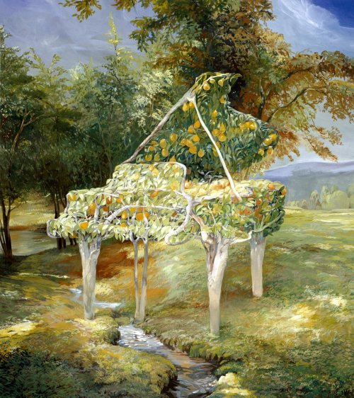 art-and-dream:  Art painting Pear tree piano by Timothy Martin