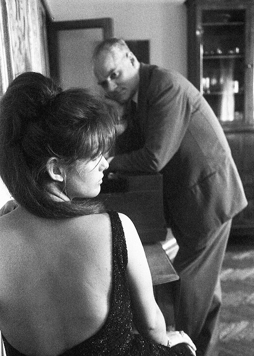 Claudia Cardinale with director Luchino Visconti on the set of Vaghe stelle dell'Orsa, 1965.