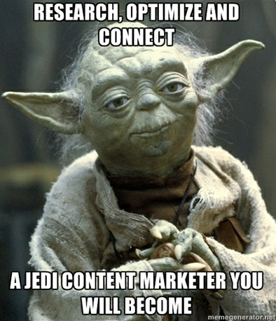 magiclogixblog:  HOW TO BECOME A JEDI MARKETER IN THREE EASY STEPS  In a webinar earlier today Brian Clark of Copy Blogger discussed becoming a Jedi Marketer. If you don't know what a Jedi is, then stop reading this blog and go buy all 6 Star Wars movies. Your significant other will love you for it.