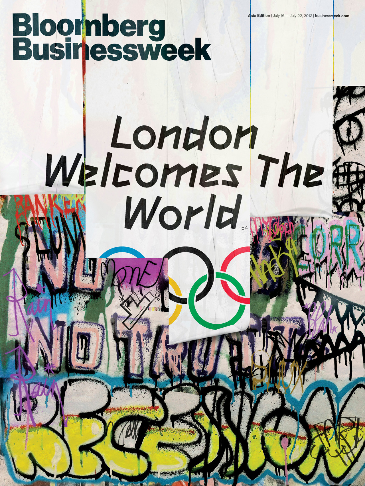 London Welcomes the World! Illustration by Ted McGrath