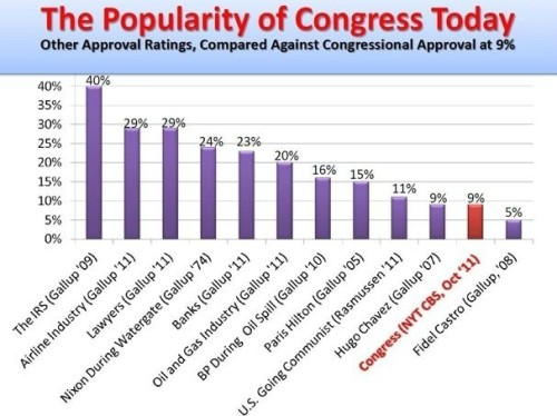 Things that are more popular than the 112th Congress