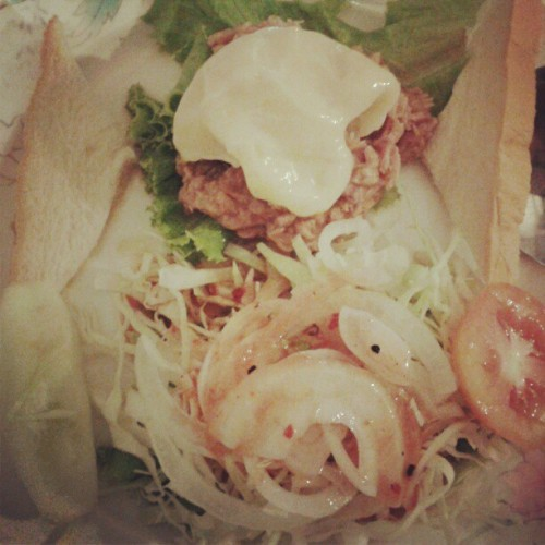 #salads #tuna #saladtuna #food #instargram #dinner #meal  (Taken with Instagram at Steak Sa-ard)