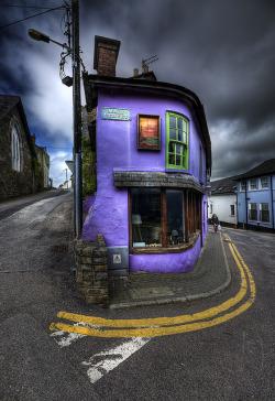 popular street purple architecture shop Ireland main street cork Kinsale