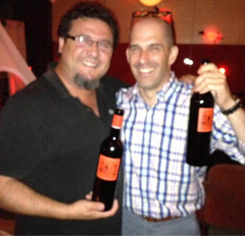 Anima Negra's Miguelangel Cerda celebrates with Joios. We're big fans.