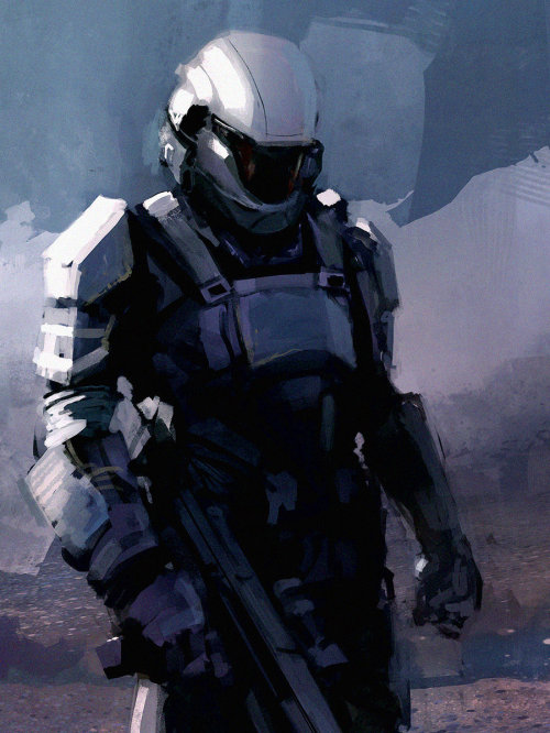 We are ODST by industry concept artist Maciej Kuciara. You can see more of Maciej's work on his official page; which has some stunning The Last of Us work he's doing for Naughty Dog.