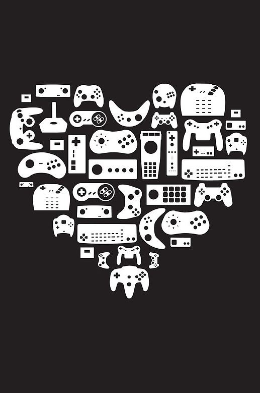 insanelygaming:  Controller Lover  Created by Pinksage Available on RedBubble