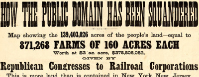 Map: How the Public Domain has Been Squandered (1884) originally posted to the BIG Map Blog.