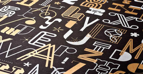 The Letters Poster: collaboration between Fifty Five Hi's & Skinny Ships
