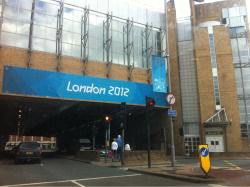 London 2012 signage around Kingston in preparation for the Olympic Cycling Road Race