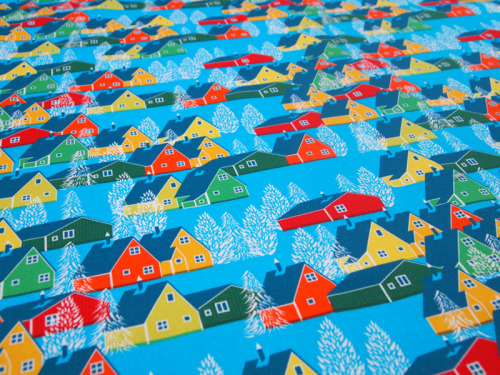 One of my new fabrics, this one was inspired by some of the amazing towns and villages I'd like to visit in Greenland. You can check out more photos of my new fabric range HERE!