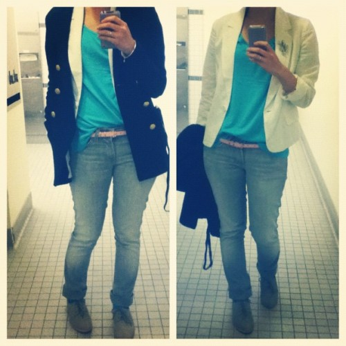 Today's outfit full of my favorite color combos: teal, pink and white. #forever21 #zaraclothes #zara #7FAM #7ForAllMankind #hmclothes (Taken with Instagram)