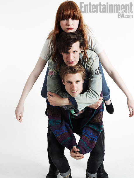 doctorwho:  bbcamerica:  Doctor Who's Matt Smith, Karen Gillan and Arthur Darvill - EW Comic-Con Portrait  Setting our previous post of this 'private' and reblogging from the BBC America blog. Because of reasons. Also: are you following the BBC America Tumblr yet?