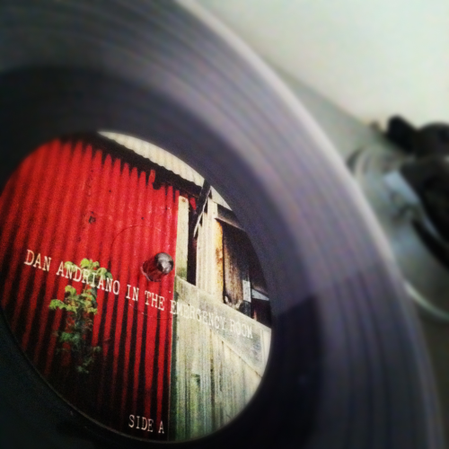 New Vinyl. Dan Andriano in the Emergency Room - Hurricane Season. Printed on clear vinyl.