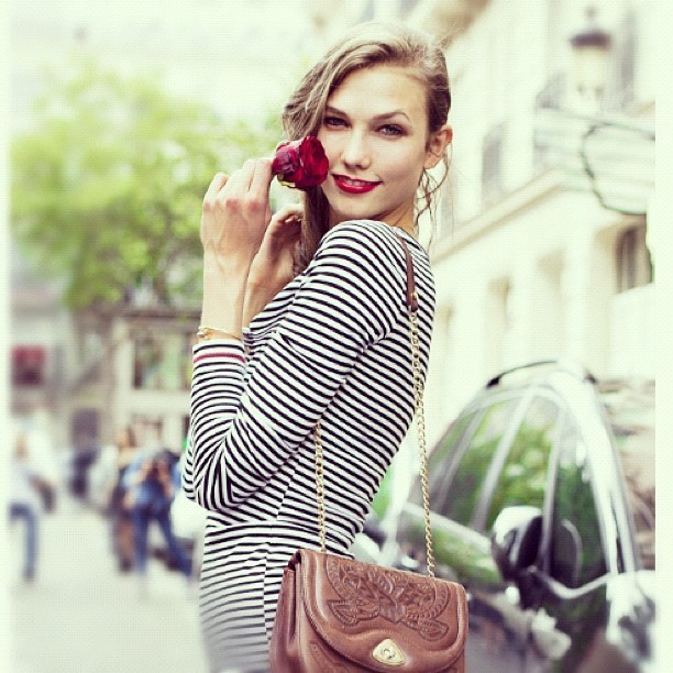 @KarlieKloss today on candicelake.com #couture #paris #streetstyle (Taken with Instagram)