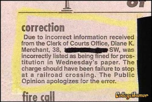 Woman Incorrectly Written Up for Prostitution What? We said it was our bad, what else do you want?