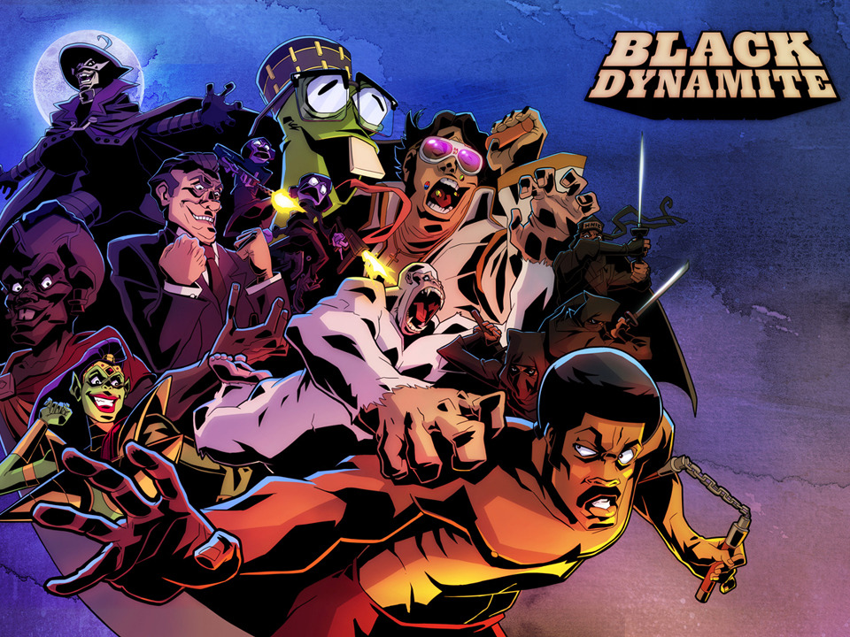 Black Dynamite Comic-Con promotional art