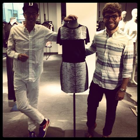 cfda-fashionincubator:  Timo and Alan at Barney's NY with their collection