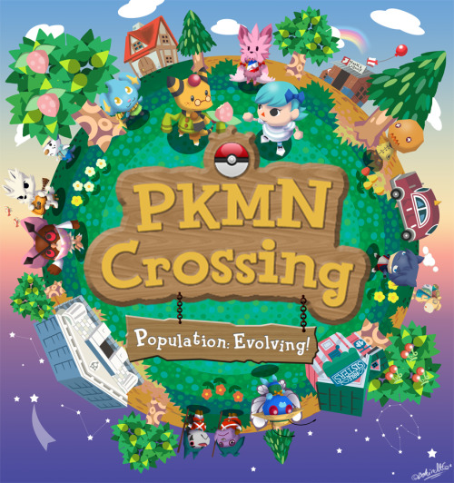 bunkiss:  PKMN Crossing - Population: Evolving by *BehindtG
