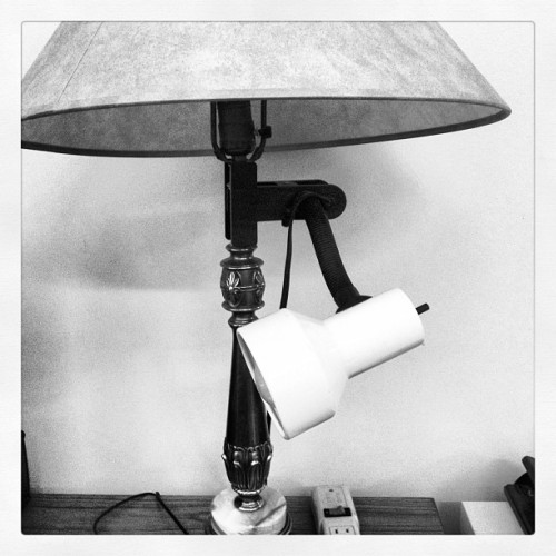 Bro, I heard you like lamps. So we put a lamp on yo lamp so you can be redundant and waste electricity (Taken with Instagram at Younkin Success Center)