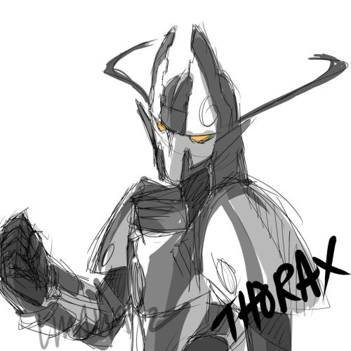 elleoser:  Quick Thorax sketch before I head to bed. Good night folks!  <3