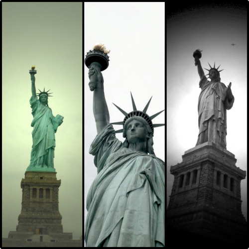 "Liberty statue, i 've use apps ""diptic""."