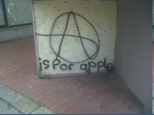 Anarchy is for Apple!    Edit: Anarchy …. Anarchism…… Semantics!
