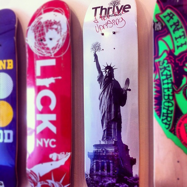 Thrive skateboards now available. @skatethrive (Taken with Instagram at Long Island City Kleaners)
