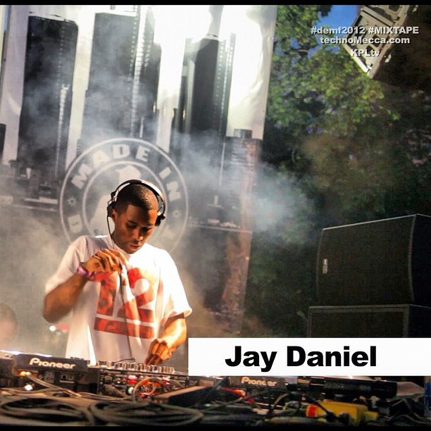 This still of DJ Jay Daniel is from the short THE #demf2012 MIXTAPE #weekend #wrapUp @technoMecca @fusicology. Daniel plays the classic track Wheel Me Out by Was Not Was. https://vimeo.com/45016060 (Taken with Instagram at Academy of Television Arts and Sciences)