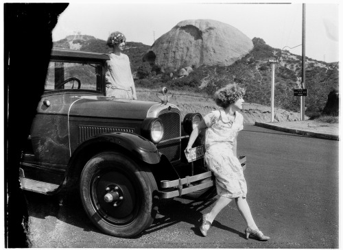 Taking in the view in the shadow of the Eagle Rock, date unknown.