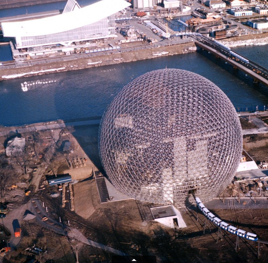 "A Buckminster Fuller-designed geodesic dome at the 1967 International and Universal Exposition, or ""Expo 67."" Michael Rougier—Time & Life Pictures/Getty ImagesBuckminster Fuller Forever: Salute to an American Visionary  ""I did not set out to design a geodesic dome,"" he once said. ""I set out to discover the principles operative in Universe. For all I knew, this could have led to a pair of flying slippers.""  via LIFE: Pesco on Buckminster Fuller David Pescovitz is co-editor/partner at Boing Boing and a research director at Institute for the Future."