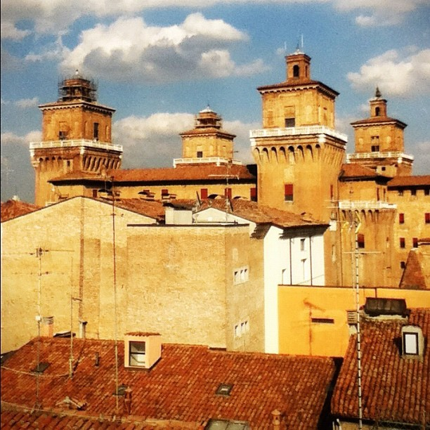 Castello Estense. A really cool medieval castle… With a MOAT!! #Ferrara #italy #blogville #architecture #medieval #castle (Taken with Instagram at Castello Estense)