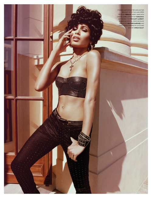 journellelingerie:  Freida Pinto by Yu Tsai for Flaunt Summer 2012