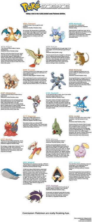 Pokemon science!