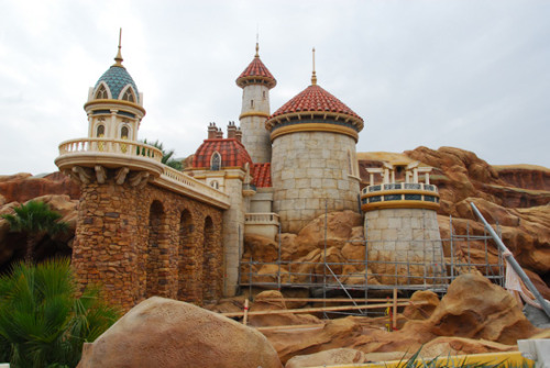 Prince Eric's castle in New Fantasyland at Walt Disney World Resort