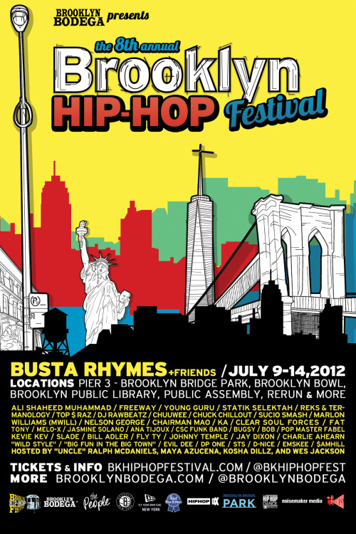 "¡NEW YAWK! ¡BROOOKLYYYNNNNNN! We rockin the Brooklyn Hip-Hop Festival this Saturday July 14th! Me & Tom Cruz & iPod Ammo gon set it off at 4:45pm. Don't be late! Get tickets at http://bhffinalday.eventbrite.com (use promo code: ""summer"" to get a discount <(-_^)> *wink wink*)"
