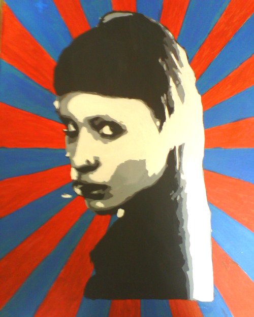 stencil of lisbeth salander xD