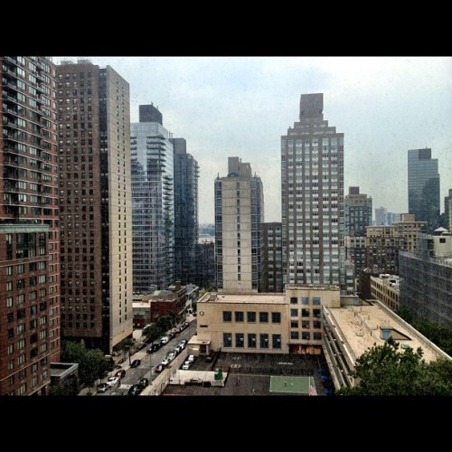 View from my room as I nurse a sprained ankle #JustiNYC (Taken with Instagram at McMahon Hall)