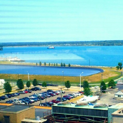 #love #michigan #water #beautiful # grandmas #hospital #view :) (Taken with Instagram)