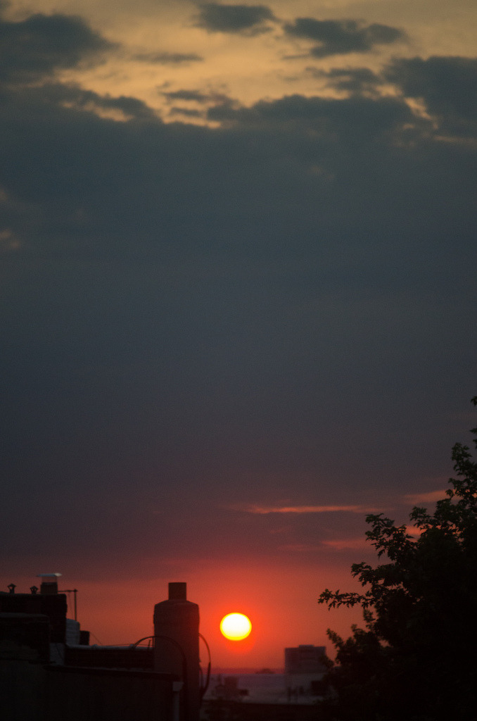 Manhattanhenge  Brooklyn, NY  Man, I was happy to get this view at home.