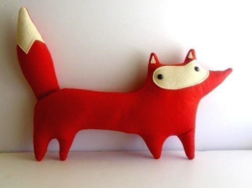 (handmade plush red fox, Liam) My brain has turned to Cheerios and all I want to do is look at sweet, unnecessary baby stuff on Etsy.