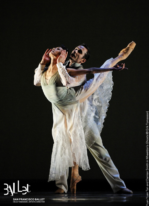 sfballet:  What better way to mark Friday 13th than with this shot from Wheeldon's Ghosts?