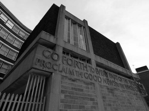 Church of Brutalism. Lambeth, London. Dec 2010.
